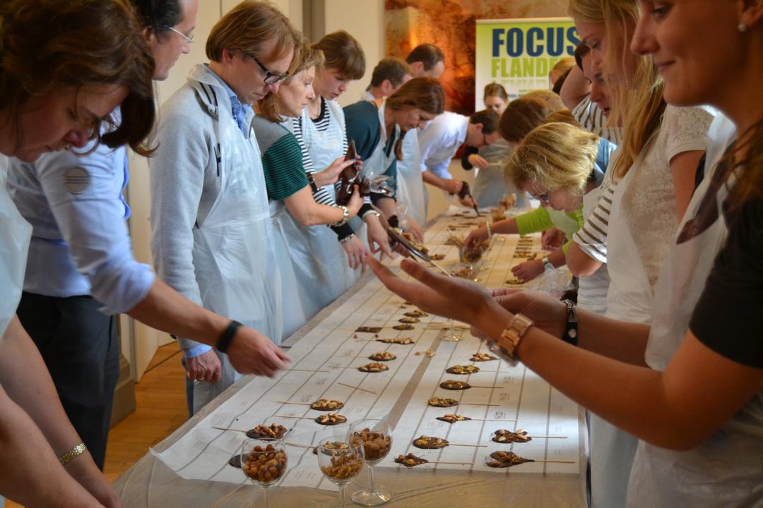 Atelier du chocolat belge à Gand